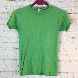 Charlotte green short sleeve tee top